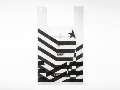 Shopping bag in plastica 30+5+5x50