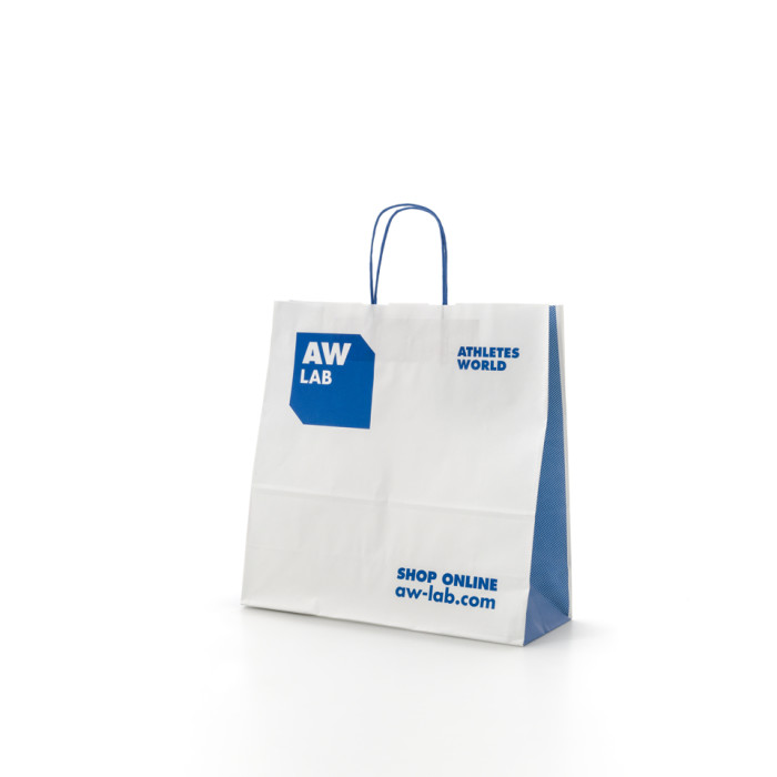 Shopper bag carta maniglia ritorta